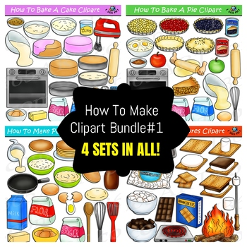 How To Make Foods Clipart Bundle #1 by I 365 Art - Clipart 4 School