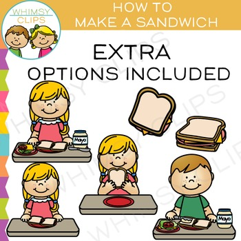How to Make a Sandwich Clip Art {Sequencing and Lunch Clip Art} by