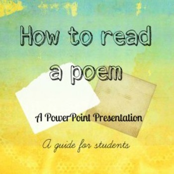 How to Read and Appreciate Poetry Powerpoint by Teaching Made Easy123 - poetry powerpoint