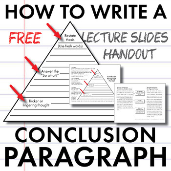 How to Write a Conclusion Paragraph, FREE Slides + Handout, Model
