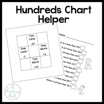 Hundreds Chart Helper {freebie} by A Primary Owl TpT