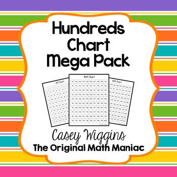 Hundreds Charts Mega Pack 1 - 1000 by The Original Math Maniac TpT