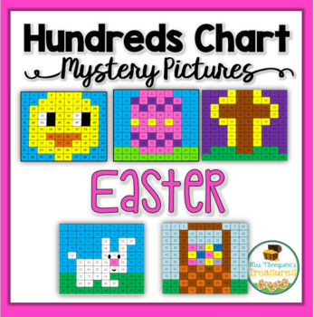 Easter Activities Math Hundreds Chart Mystery Pictures TpT - hundreds chart
