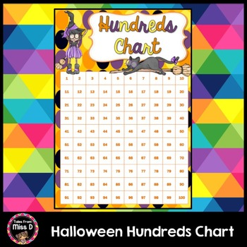 Halloween Hundreds Chart FREEBIE by Tales From Miss D TpT