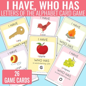 I Have, Who Has Alphabet Game Alphabet Cards by Easy Peasy Learners