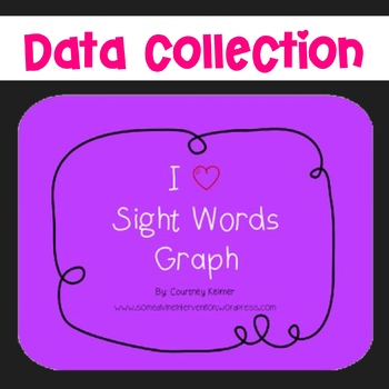 I Heart Sight Words Graph (Dolch) Free by Courtney Keimer TpT