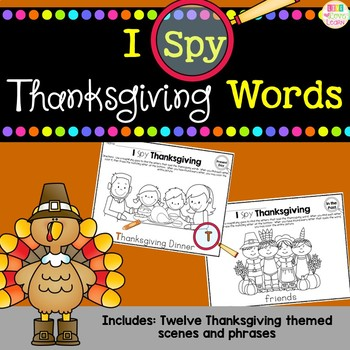 I Spy - Thanksgiving Words by Live Love Learn with Miss Kriss TpT