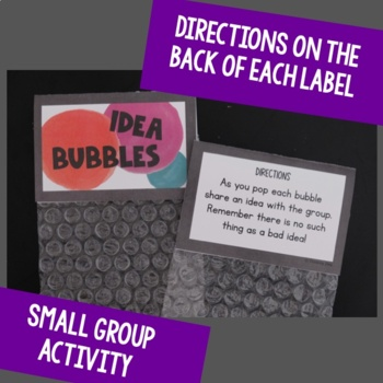 Idea Bubbles Brainstorming and Thinking Activity by Wendy Baker