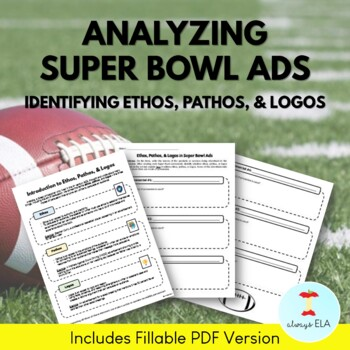 Ethos Pathos Logos Ads Worksheets  Teaching Resources TpT