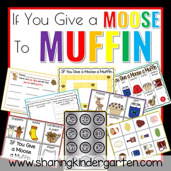 If You Give a Moose a Muffin Unit by Sharing Kindergarten TpT
