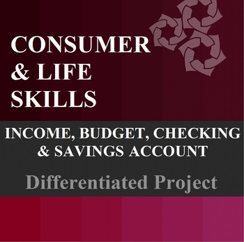 Income, Budget, Checking Account, Savings Account Differentiated Project