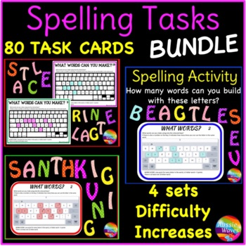 Independent Spelling Activity and Word Building BUNDLE by Aussie Waves