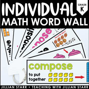Individual Math Word Wall Kindergarten by Jillian Starr TpT