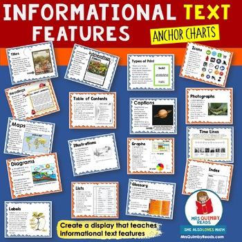Nonfiction Text Features Anchor Chart Teaching Resources Teachers