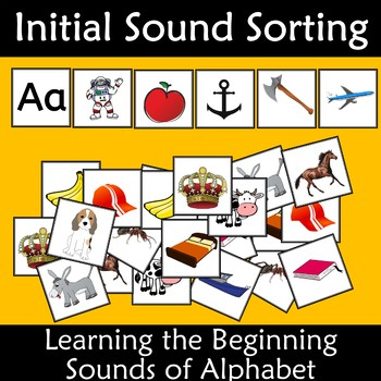 Initial Sound Alphabet Card Sort by Kiwiland Teachers Pay Teachers - alphabet card