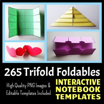 Interactive Notebook Templates - Easy to Cut Trifold Pack - 265