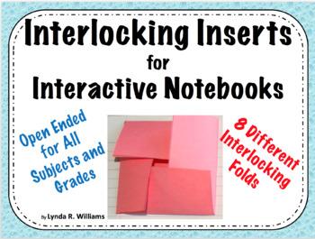Interlocking Inserts For Interactive Notebooks By Lynda R