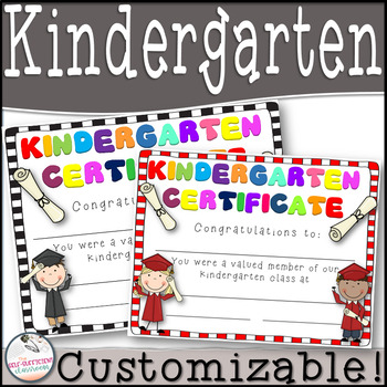 Kindergarten Graduation Certificates Teaching Resources Teachers