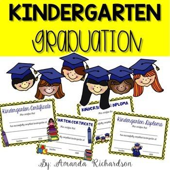 Kindergarten Graduation Editable Diplomas, Certificates, and More!
