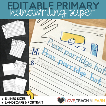 Kindergarten Primary Lined Paper  Print by love teach and learn