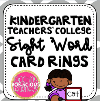 Teachers College Sight Words Teaching Resources Teachers Pay Teachers