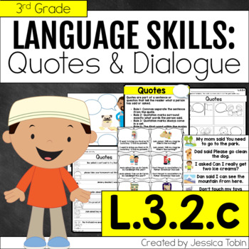 L32c Quotation Marks and Commas in Quotes and Dialogue TpT