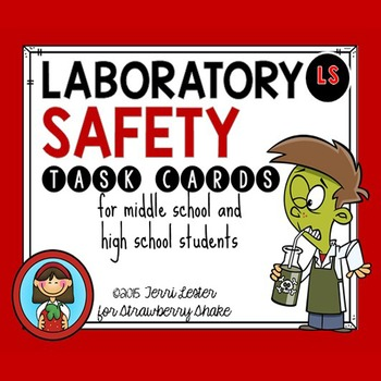 LAB SAFETY Task Cards for Middle and High School Biology Life - chemistry safety