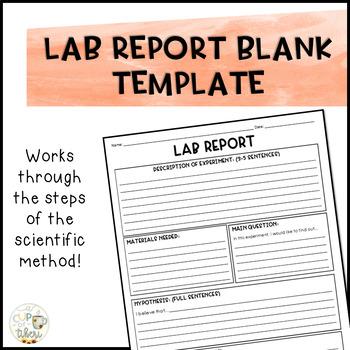 Lab Report Template by A Cup of Tiberi Teachers Pay Teachers