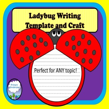 Ladybug Craft Writing Template by Primary Wonderland TpT