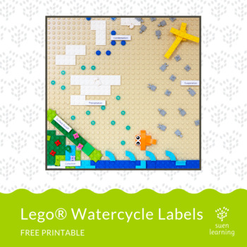 Lego® Water Cycle labels by Suen Learning Teachers Pay Teachers