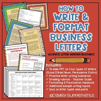 Business Letter Format Practice by Dayley Supplements TpT