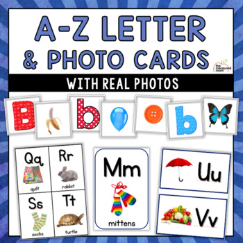 Letter and picture cards, alphabet flash cards  more - with real photos