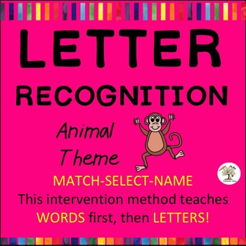 Letter Recognition, Letter Identification Animals (Down Syndrome, sped)