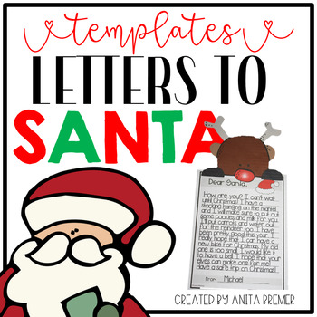 Letters to Santa Templates and Page Toppers by Anita Bremer TpT