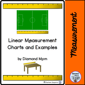 Linear Measurement Charts and Examples by Diamond Mom TpT - measurement charts