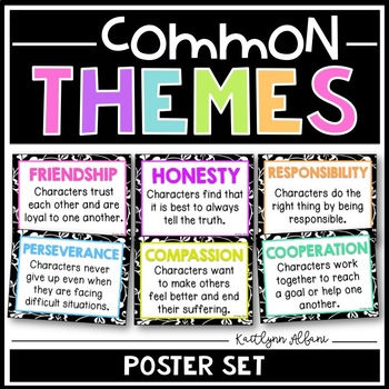 Literary Themes Posters - Common Themes for Reading