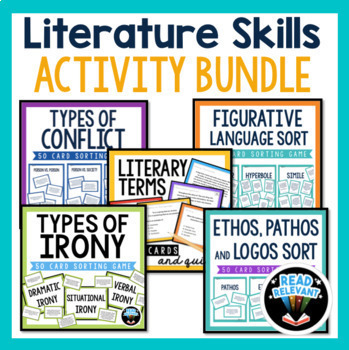 Literature Skills Bundle Figurative Language, Conflict, Irony, and