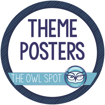 Literature Theme Posters - 15 Common Themes in Literature by The Owl