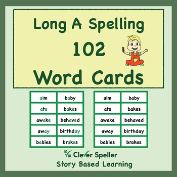 Long a Word Cards by Clever Speller Story Based Learning TpT