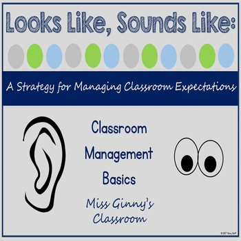 Looks Like Sounds Like Classroom Expectations Posters by Miss
