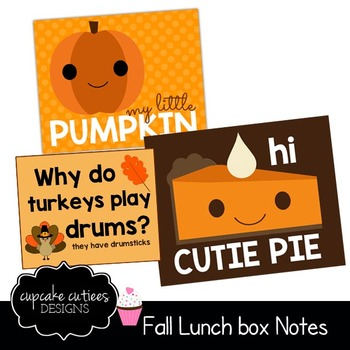 Lunch Box Notes Fall Autumn Digital Tag Printable- For Parents TpT