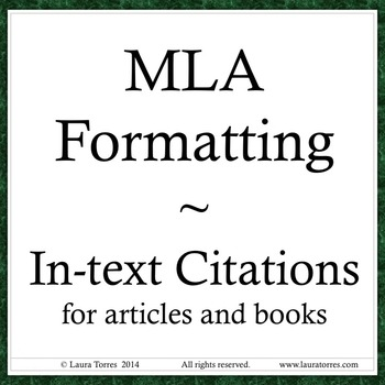 MLA format - In-text Citations Power Point by Laura Torres TpT - Mla Format For Citations
