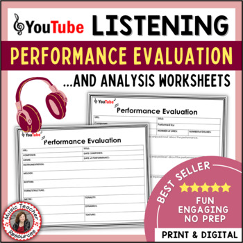 MUSIC LISTENING Performance Evaluation and Analysis Sheets TpT - performance evaluation