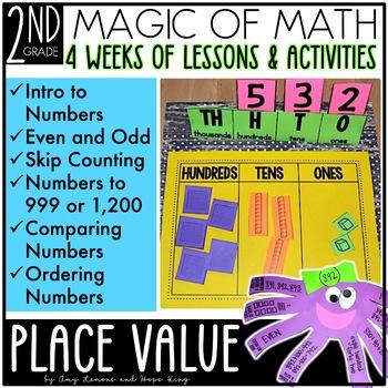 2nd Grade Magic of Math Unit 1 Place Value by Amy Lemons TpT - place value unit