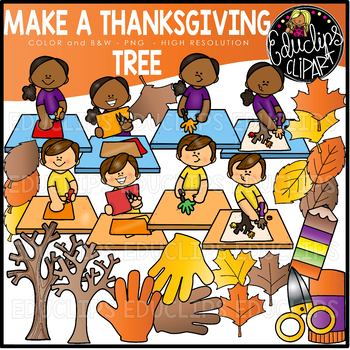 Make a Thanksgiving Tree Clip Art Set {Educlips Clipart} by Educlips