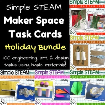 Maker Space Task Card Bundle Holiday Edition by More Than a Worksheet