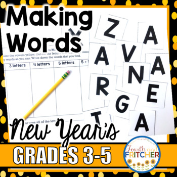 Making Words New Year\u0027s Day by Fourth and Fritcher TpT
