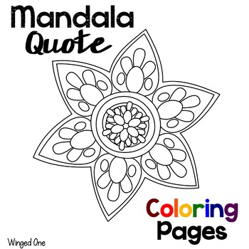 Mandala Coloring Pages with Einstein Quotes by Winged One TpT