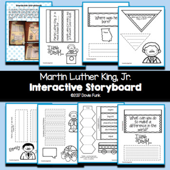 Martin Luther King, Jr Interactive Lapbook Storyboard Activity MLK - interactive storyboards