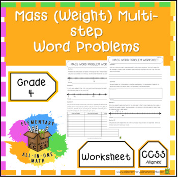 Mass (Weight) Multi-Step Word Problems - 4th Grade Measurement (4